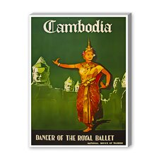 Cambodia Vintage Advertisement on Canvas