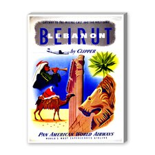 Beirut Lebanon Vintage Advertisement on Canvas