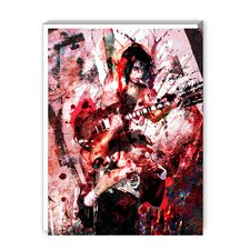 AC DC Graphic Art on Canvas