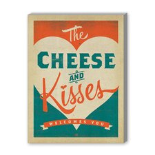 Cheese and Kisses Vintage Advertisement on Canvas