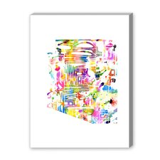 Arizona Watercolor Textual Art on Canvas