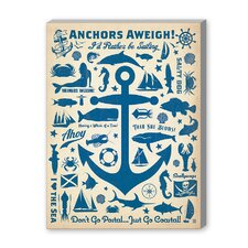 Coastal Anchor Pattern Print Vintage Advertisement on Canvas