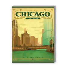 Chicago - St. Patty's Vintage Advertisement on Canvas