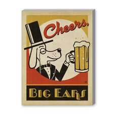 Cheers Big Ears Vintage Advertisement on Canvas