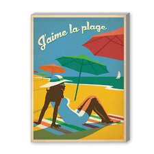 Coastal Jaime La Plague Vintage Advertisement on Canvas