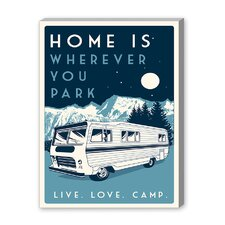 Camp Vintage Advertisement on Canvas