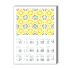 Calendar Portuguese Tile II Graphic Art on Canvas