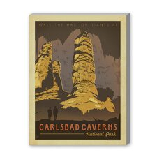 Carlsbad Vintage Advertisement on Canvas