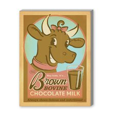 Brown Bovine Vintage Advertisement on Canvas