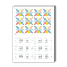 Calendar Portuguese Tile III Graphic Art on Canvas