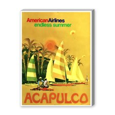 Acapulco Vintage Advertisement on Canvas