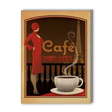 Café Champs Vintage Advertisement on Canvas