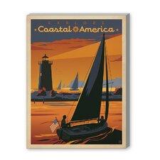 Coastal Explore America Vintage Advertisement Graphic Art