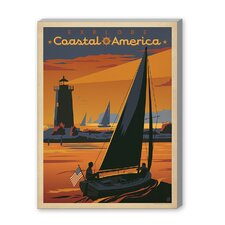 Coastal Explore America Vintage Advertisement on Canvas