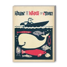 Coastal Having a Whale of a Time Graphic Art on Canvas