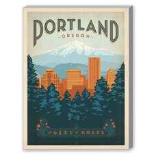 Portland Oregon Vintage Advertisement on Canvas