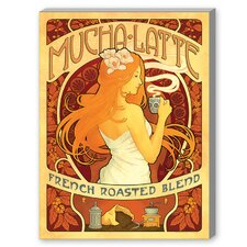 Mucha Latte Vintage Advertisement on Canvas