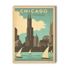 Chicago Windy City Vintage Advertisement on Canvas