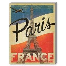 Paris Flag Graphic Art on Canvas