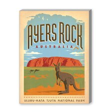 Ayers Rock Vintage Advertisement on Canvas