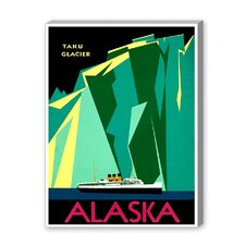 Alaska Taku Glacier Graphic Art on Canvas
