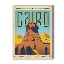 Cairo Vintage Advertisement on Canvas