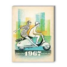 1967 Scooter Girls Vintage Advertisement on Canvas