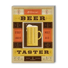 Beer Taster Vintage Advertisement on Canvas