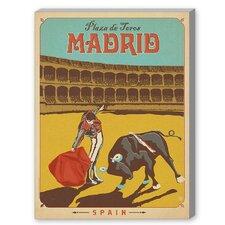 Madrid Vintage Advertisement on Canvas