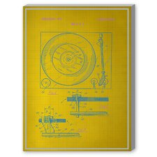 Record Player Graphic Art on Canvas