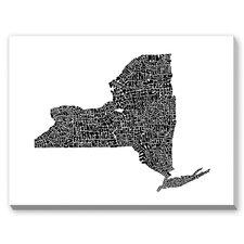 New York Textual Art on Canvas