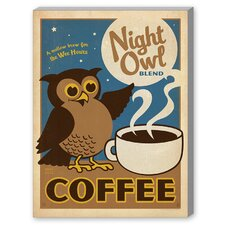 Night Owl Vintage Advertisement on Canvas