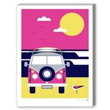 Malibu Magic Graphic Art on Canvas in Pink