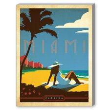 Miami Vintage Advertisement on Canvas