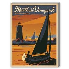 Martha's Vineyard Vintage Advertisement on Canvas