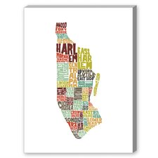 Manhattan Textual Art on Canvas in Color