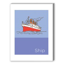 Storybook Ship Graphic Art on Canvas