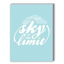 Sky is the Limit Textual Art on Canvas