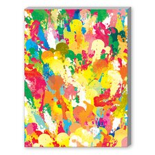 Spring Pattern Paintbrush Gallery Wrapped Canvas