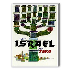 Travel Israel Vintage Advertisement on Canvas