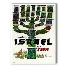 Travel Israel Vintage Advertisement on Canvas