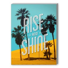 Rise and Shine Beach Graphic Art on Canvas