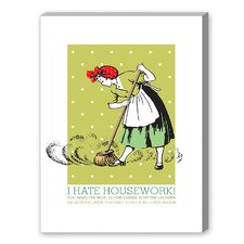 Sweeper Graphic Art on Canvas
