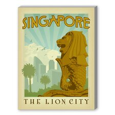 Singapore Vintage Advertisement on Canvas