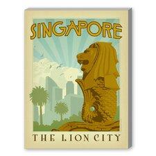 Singapore Vintage Advertisement on Canvas