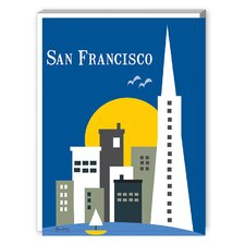 San Francisco Graphic Art on Canvas
