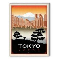 Tokyo Vintage Advertisement on Canvas