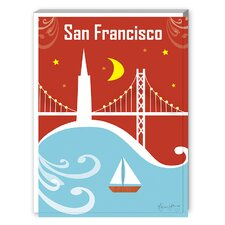 San Francisco Bay Bridge Graphic Art on Canvas