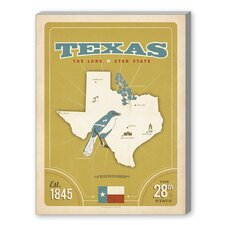State Pride Print Texas Graphic Art on Canvas