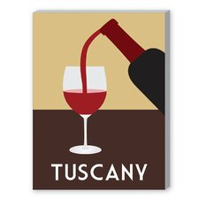 Tuscany Graphic Art on Canvas